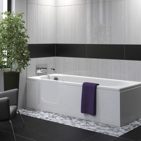 bath with easy access door