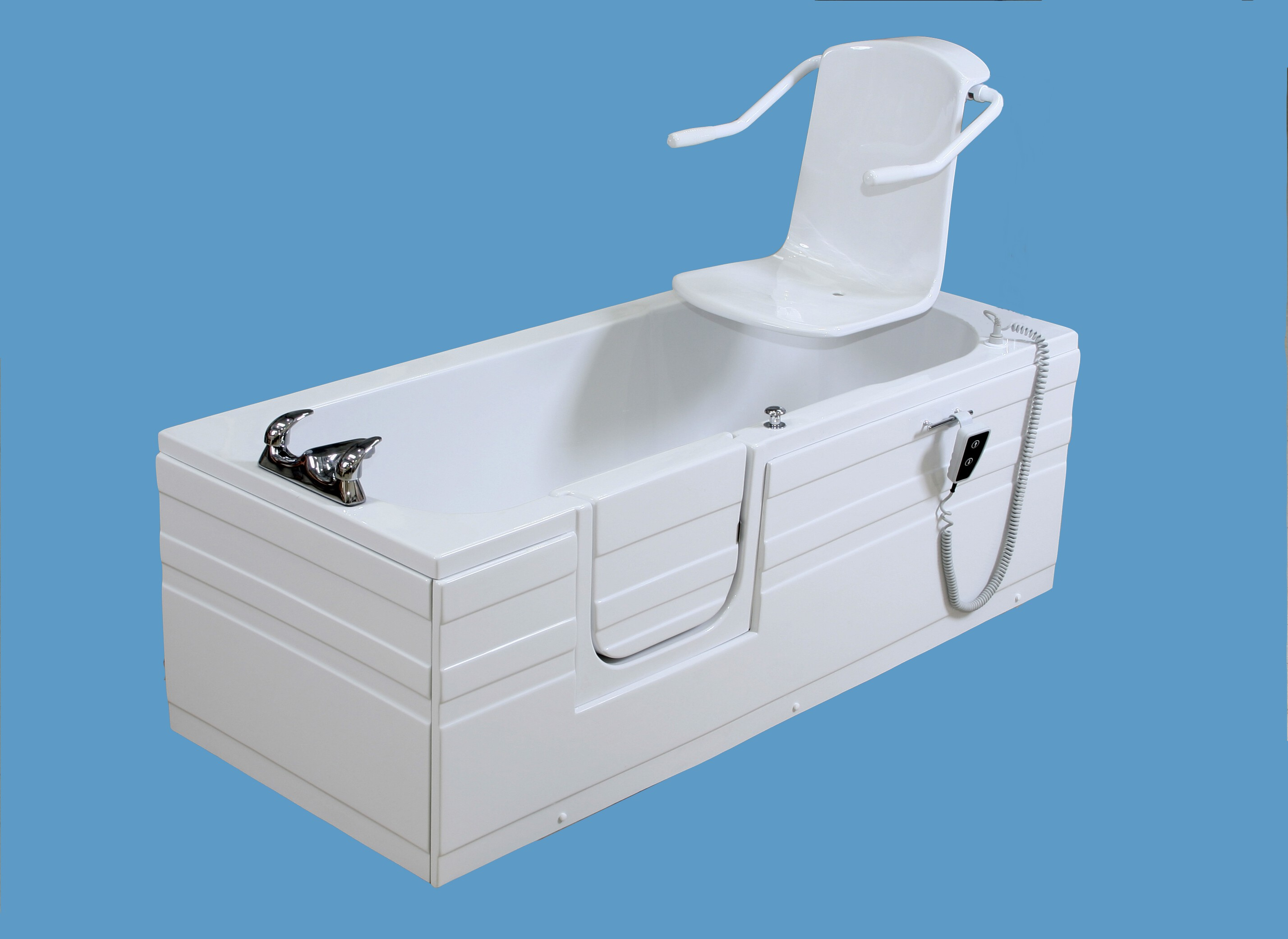 power bath with door