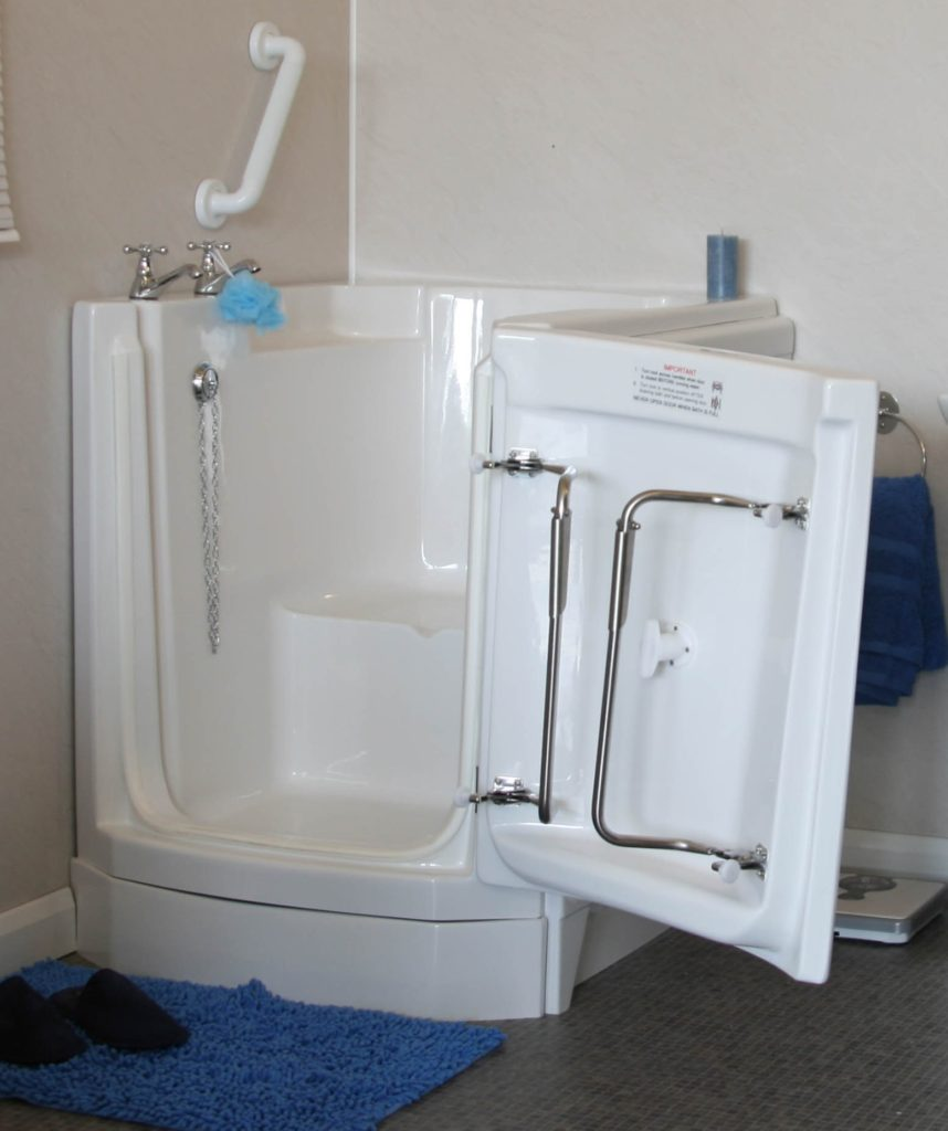 Scorpio Front Entry Walk In Bath Outward Opening Door Practical Bathing