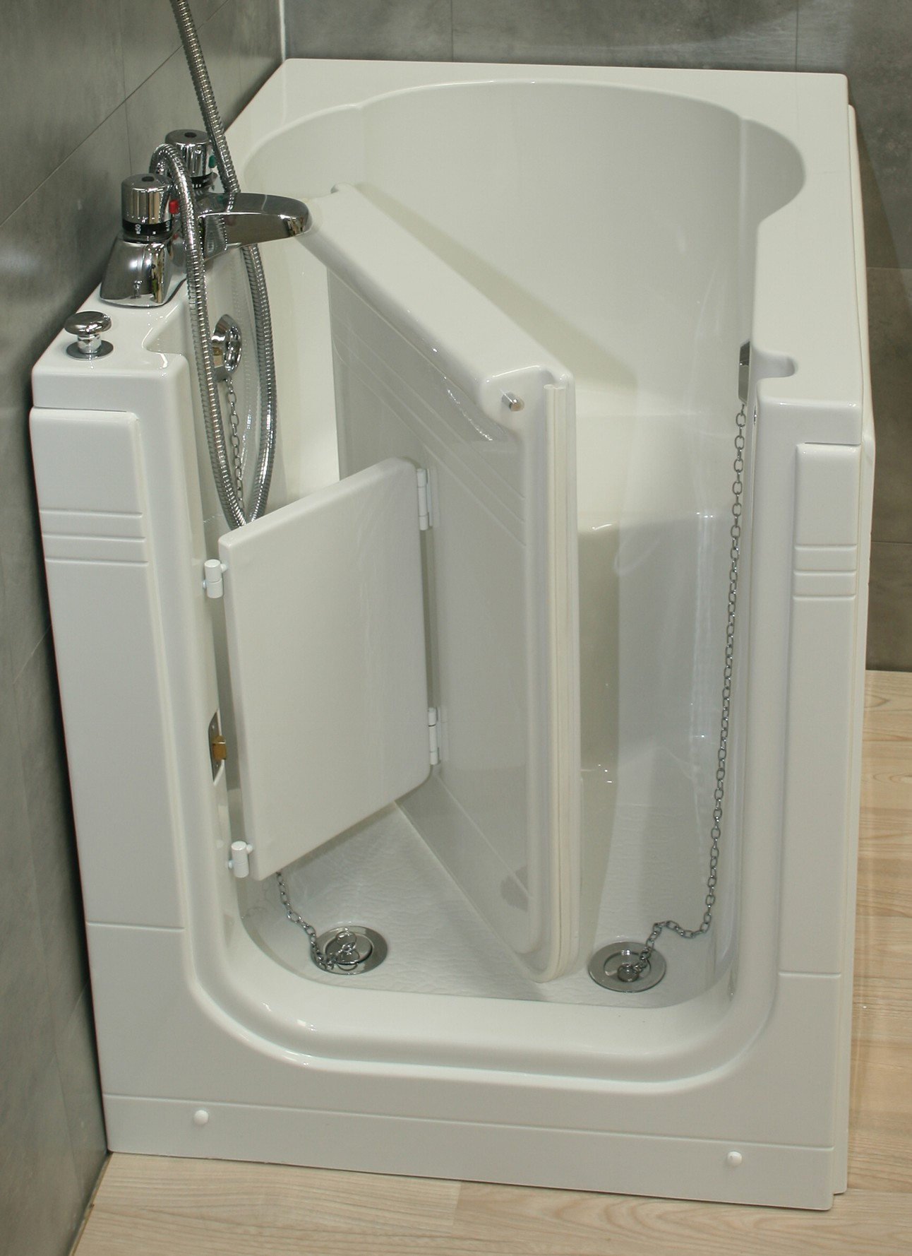 Compact Bath sierra compact front entry sitting bath -practical bathing ltd