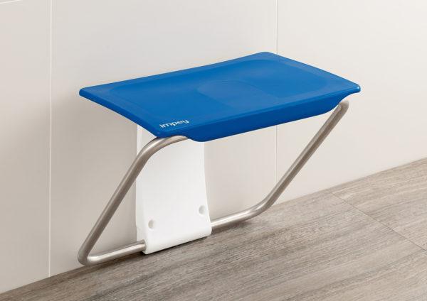 Slimfold shower bench blue