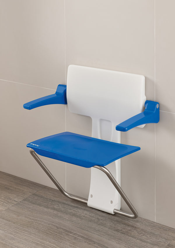 Slimfold shower seat