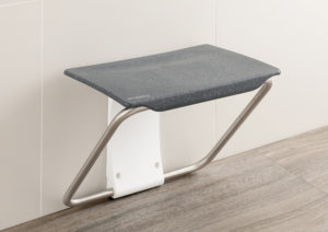 Slimfold shower bench granite