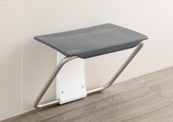 Slimfold shower bench granite