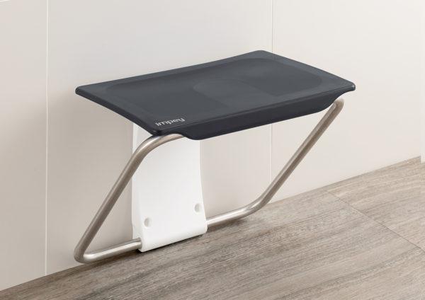Slimfold shower bench grey