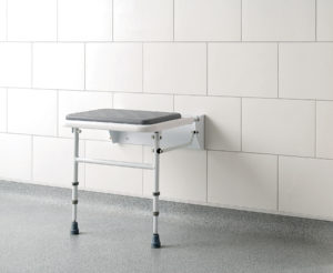 padded fold down shower bench