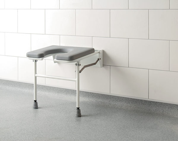 cutaway shower bench
