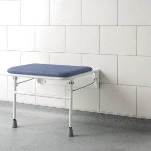 Extra wide shower bench