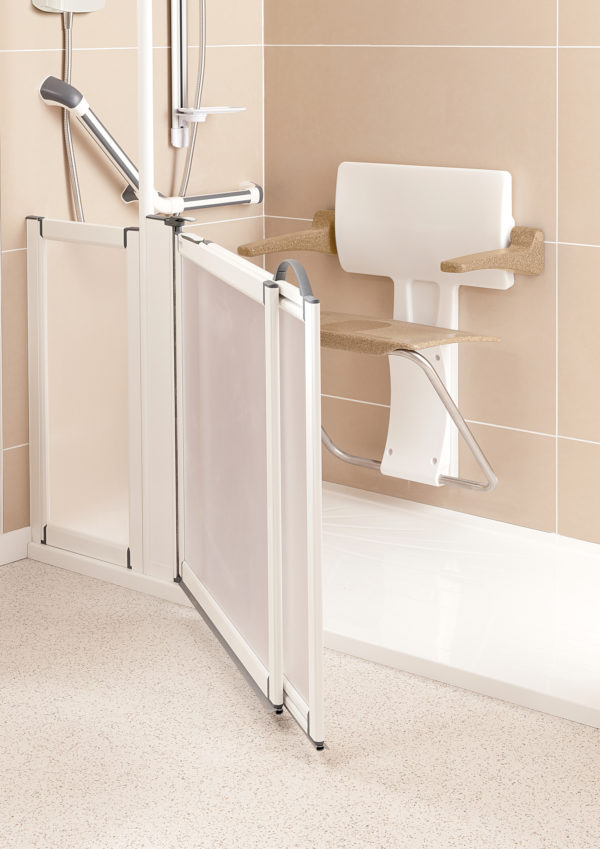 Slimfold shower seat roomset