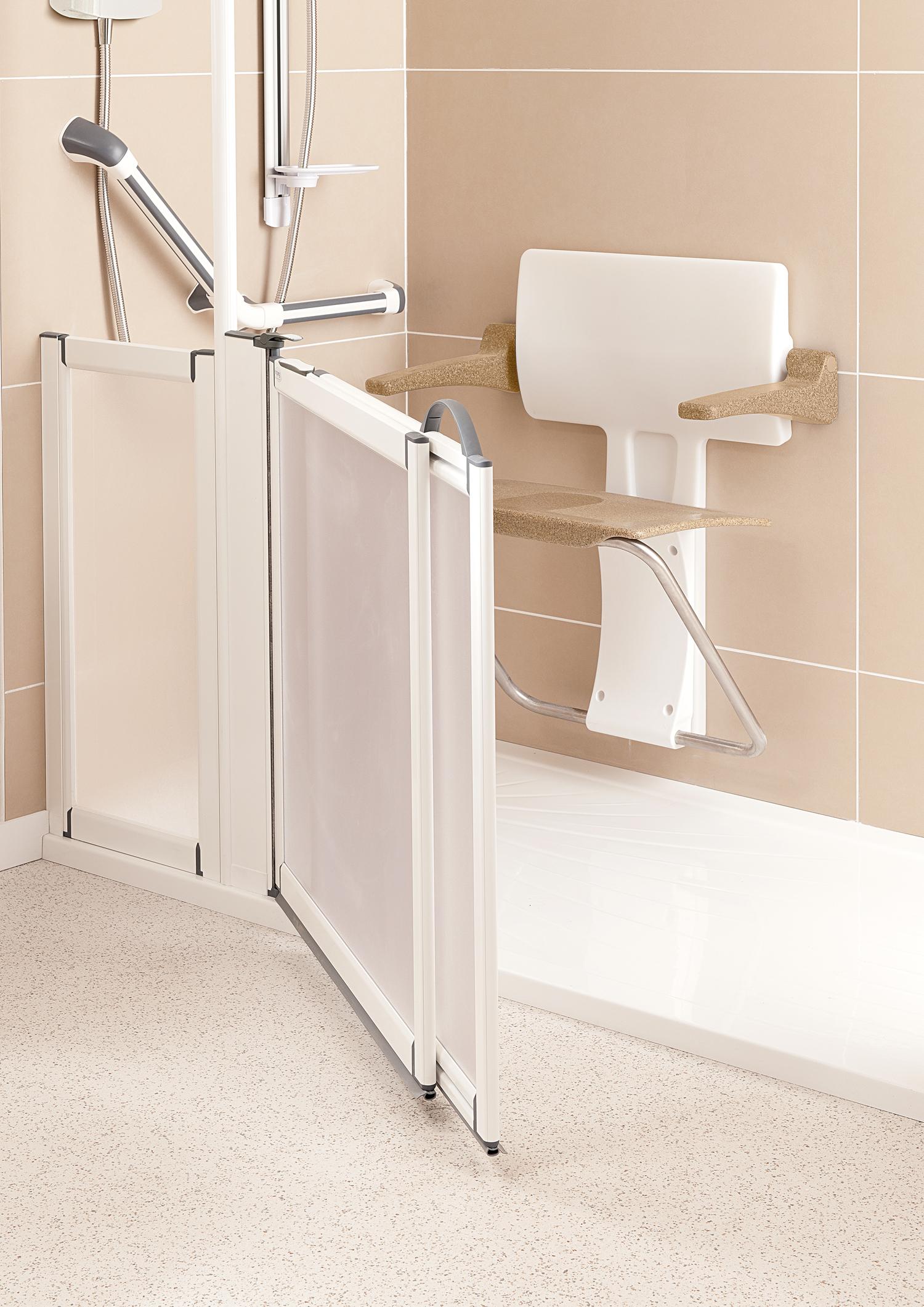 Slimfold shower seat roomset