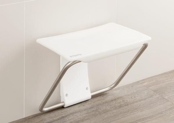 Slimfold shower bench white
