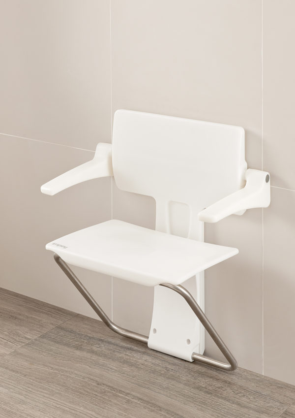 Slimfold shower seat white