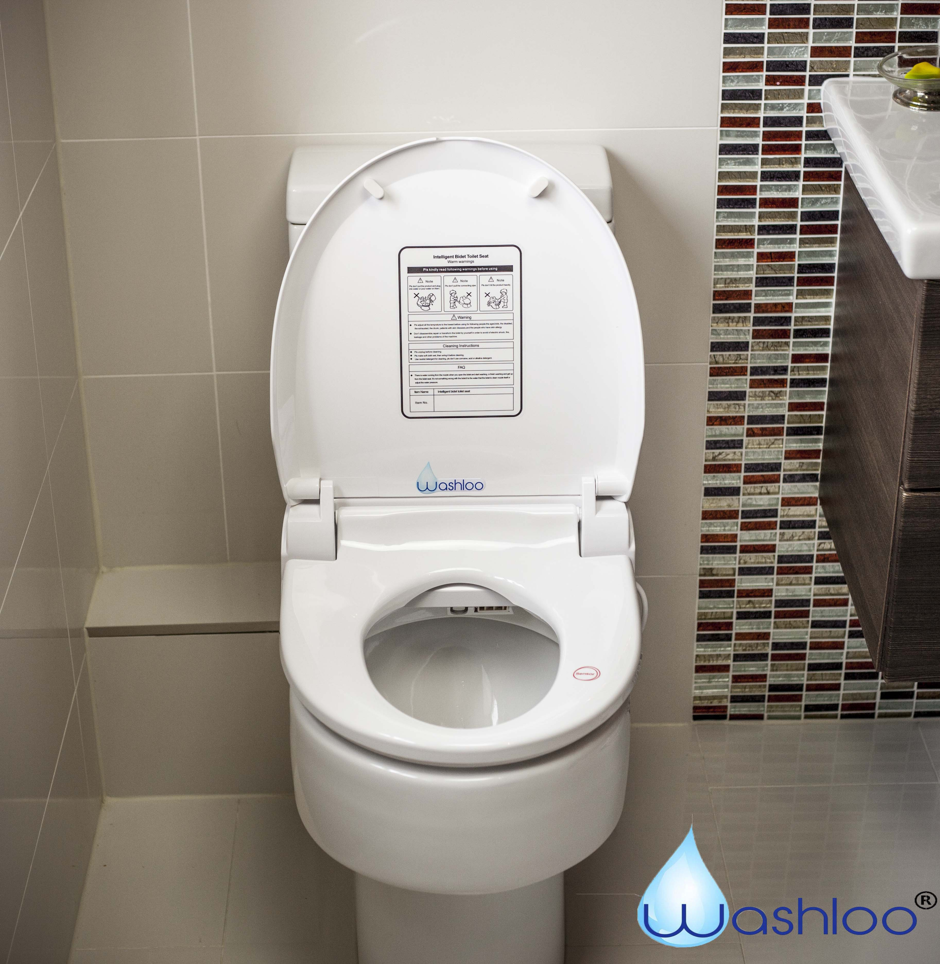 Washloo Classic Bidet Seat Fixed Control Only 425 Including Delivery