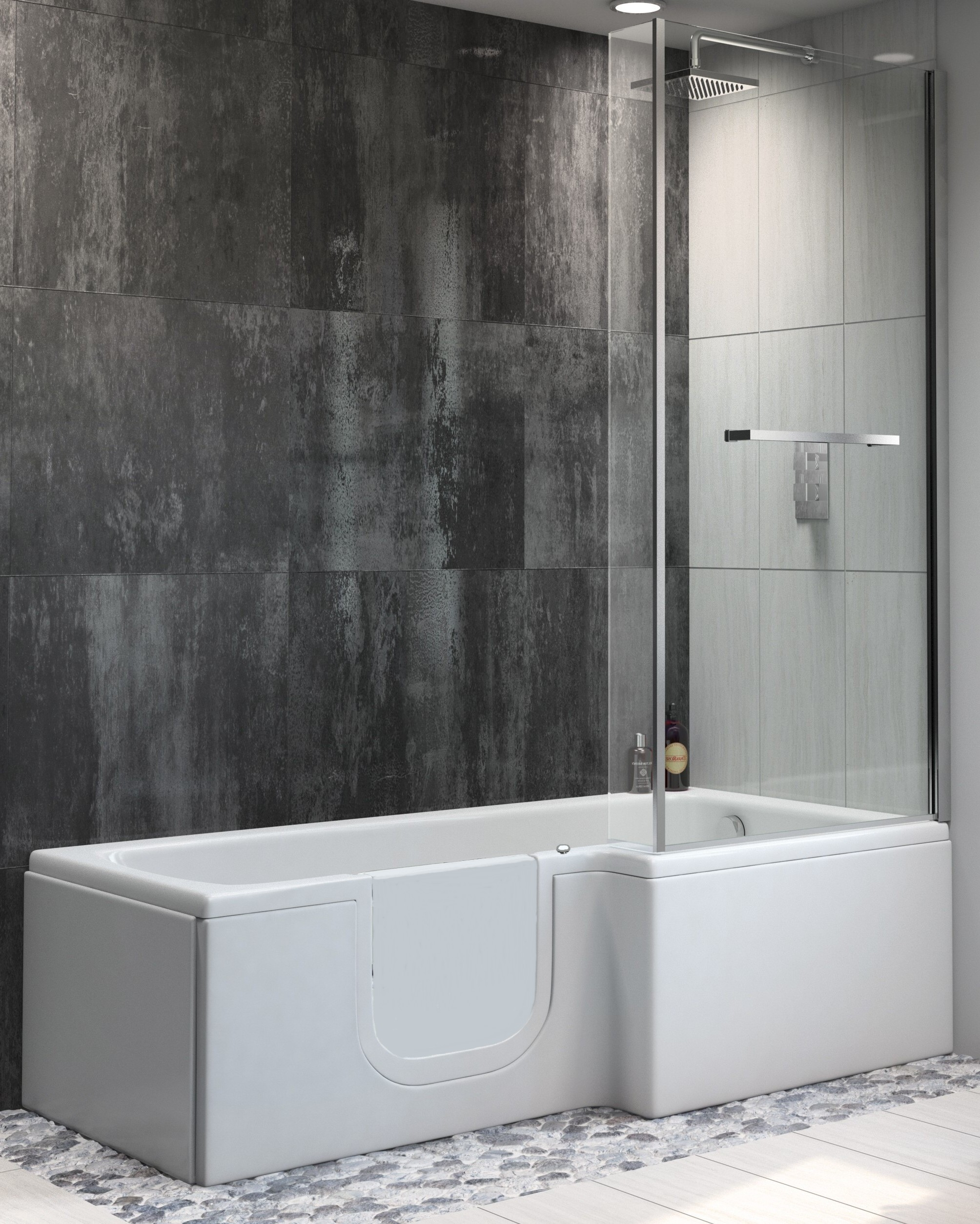 Sabre easy access shower bath only 1670 from practical for Shower over bath ideas